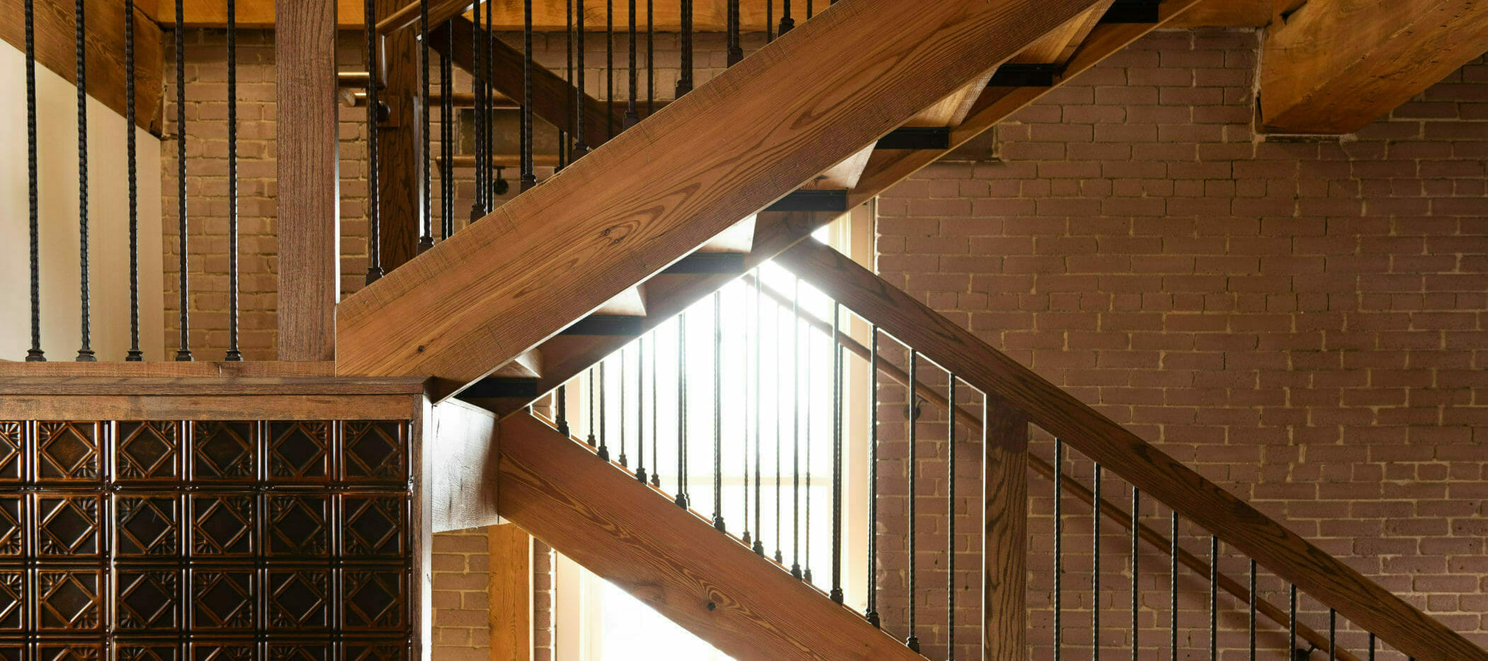 Rustic Stairs and Decorative Accents inside The Mill in Hershey