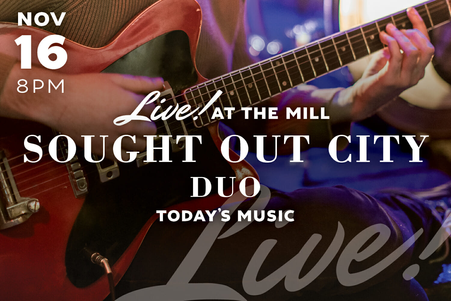 Live Music with Sought Out City DUo at The Mill in Hershey