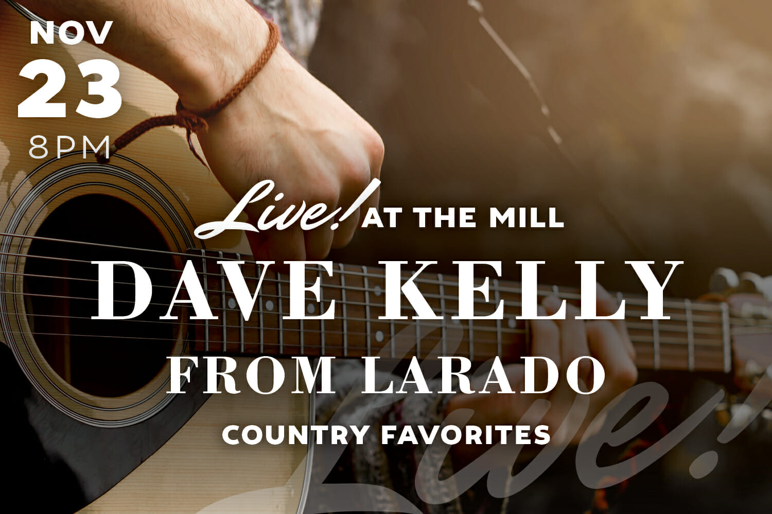 Live Music with Dave Kelly at The Mill in Hershey
