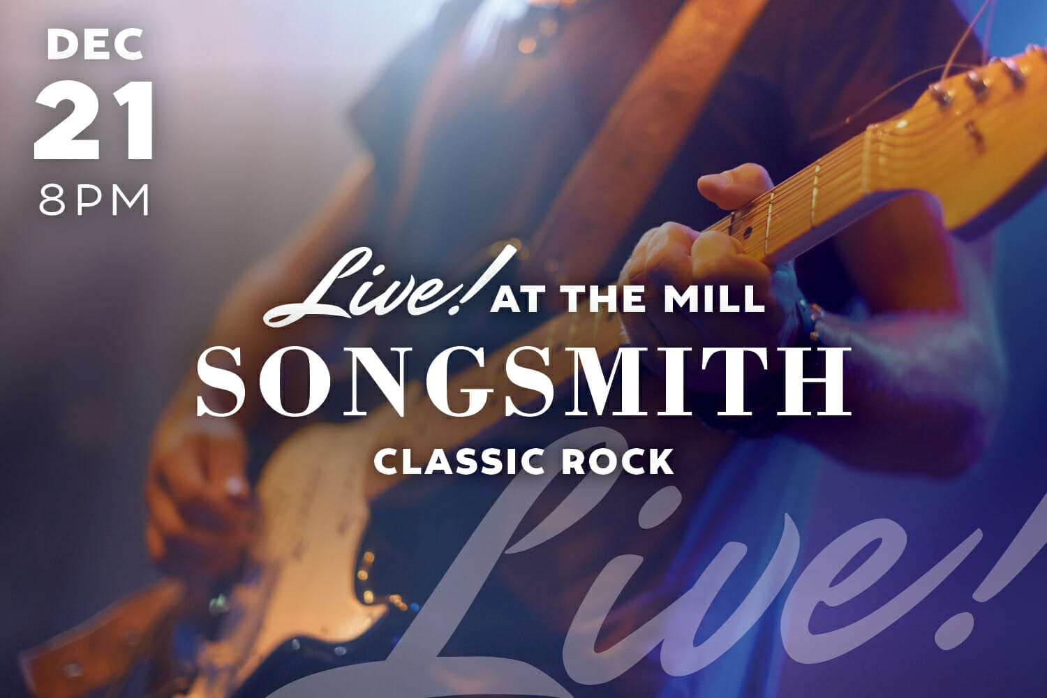 live at the mill - songsmith - classic rock graphic