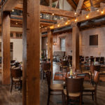 Open rustic dining space at The Mill in Hershey